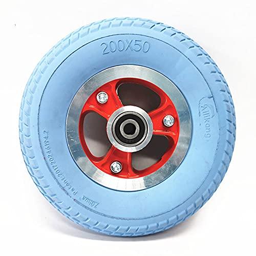 Neumáticos de scooter eléctricos, neumáticos de amortiguación cómodos y huecos 200x50, 10mm ruedas desmontables de diámetro interno, Accesorios de rueda completa de 8 pulgadas,Azul,full wheels