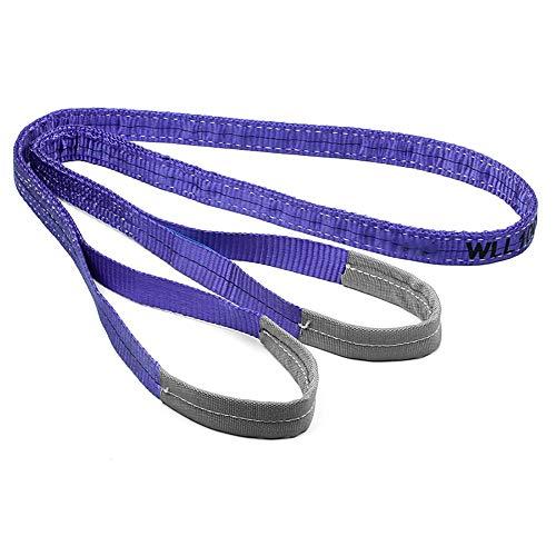 ZoSiP Sling Straps Gewebeschlaufen 1 Tonne Lila Industrie Duplex Polyester Webbing Lifting Cargo-Riemen-Bügel Strop 1-10mtr Web Sling (Color : Purple, Size : 3m)