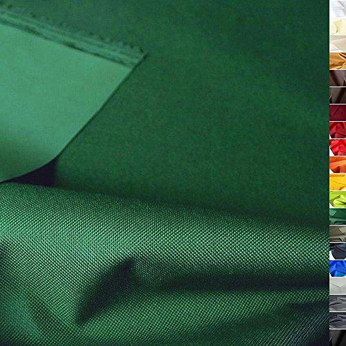 TOLKO Outdoor Stoff - Nylon Planenstoff als Meterware, Wasserdicht, Extra Schwer, Reißfest und Langlebig (Dunkel-Grün)
