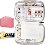 VASCO Travel Jewelry Organizer Roll - Portable Travel Jewelry Case - Compact Jewelry Bag - Jewelry Roll for Necklaces, Earrings, Rings and More - Easy to Carry Jewelry Box for Women