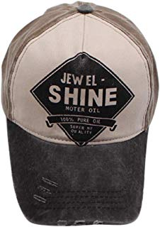 XILALU Vintage Unisex Ponytail Messy Buns Trucker Plain Baseball Visor Cap Summer Washed Distressed Dad Hat