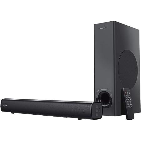 Creative Stage 最大出力160W TV/プロジェクタ/PC等入力可(光デジタル/アナログピンジャック/Bluetooth/USBメモリー) リモコン付 サウンドバー型スピーカー SP-STGE-BK