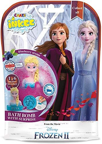 CRAZE Spaßbad INKEE Magische Duft Badekugel mit Überraschung Frozen 2 Die Eiskönigin Stempel 12734, bunt