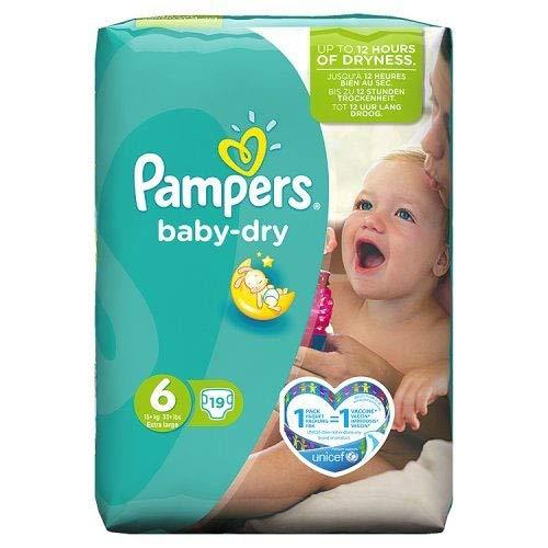 Pampers Baby Dry Windeln Carry Pack–Größe 6(Extra Groß), 19, Windeln