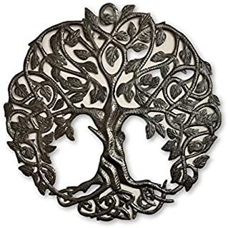 Tree of Life Metal Wall Art, Contemporary Iron Artwork Decor, Celtic Family Trees, 23 In...