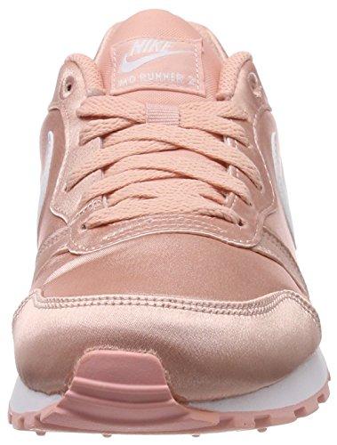 Nike MD Runner 2, Zapatillas de Running Mujer, Rosa (Coral Stardust/White 603), 40.5 EU