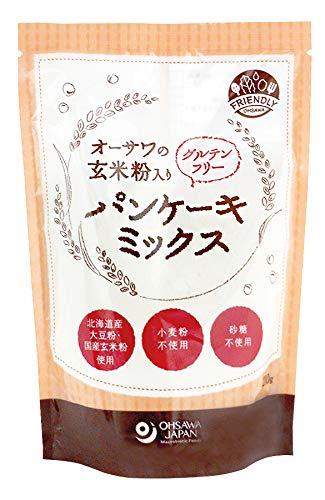 オーサワの玄米粉入りグルテンフリーパンケーキミックス
