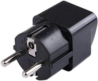 Universal Uk Us Au To Eu Ac Enchufe de alimentación Adaptador de viaje Pure Copper Black