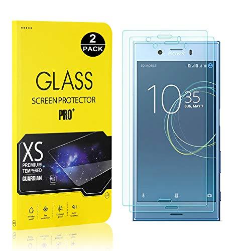 SONWO Schutzfolie Kompatibel für Sony Xperia XZ1 Compact, 9H Härte, Anti-Kratzen, Anti-Öl, Anti-Bläschen, lebenslange Garantie, 2 Stück