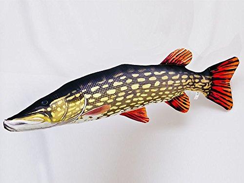 Kissen Fisch der Hecht Giant 110 cm Kuschelfische Kuscheltie Kopfkissen Plüschtier