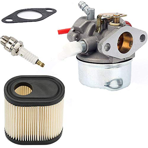 mycheng 640350 Carburetor with Air Filter Spark Plug & Gasket for 20016 20017 20018 6 6.25 6.5 6.75 HP Engines,Tecumseh LEV100 LEV105 LEV120 LV195EA LV195XA 640303 640271 Carb Toro Recycler Lawnmower
