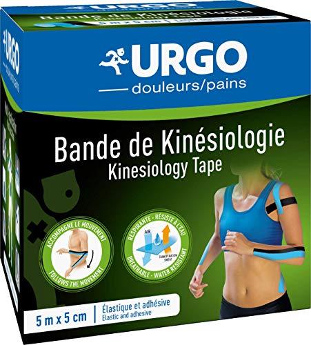 Urgo - Bande de Kinésiologie - Elastique et adhésive - Accompagne le mouvement - 5mx5cm