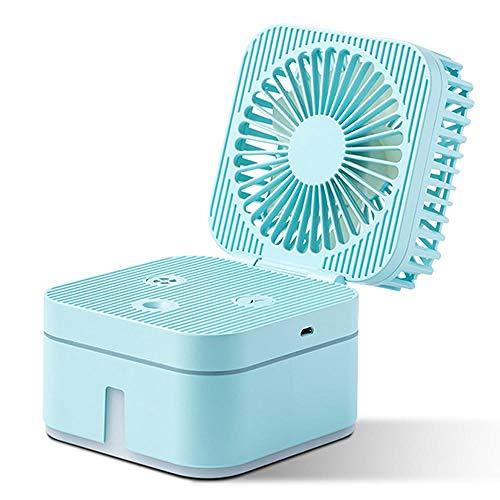 Ventilateur Silencieux Fan USB Bureau Ventilateur De Refroidissement À l'eau Mini Climatiseur Humidificateur LED Veilleuse Micro Cooler Ventilateur pour Bureau À Domicile Bleu