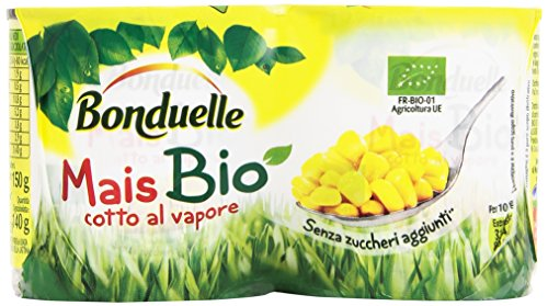 Bonduelle Mais Bio, Cotto al Vapore senza Zuccheri Aggiunti - 300 gr