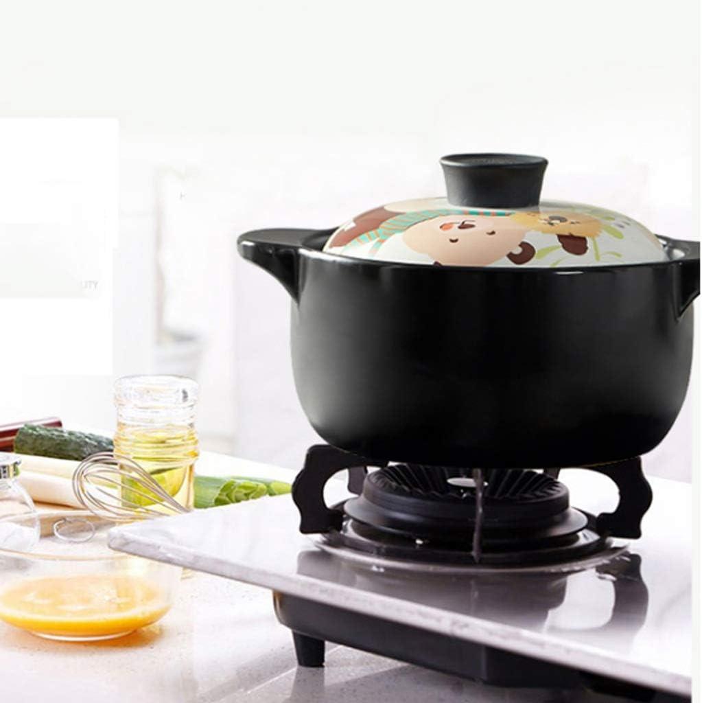 YTTZZ Céramique Casserole résistant à la chaleur Soupe Pot en céramique Nutrition Santé Casserole résistant à la chaleur encadrée Binaural marmite à soupe (Color : D) B