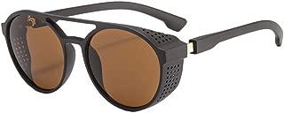 Unisex Classic Round Circle Frame Sunglasses Unique Steampunk Lens Retro Metal Frame Colored Lens Uv Protection Outdoor Protection Vintage Women Men Wayfarer Sport Sunglasses 2019 Summer New Style