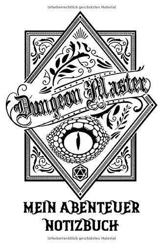 Dungeon Master Mein Abentuer Notizbuch | Pilzdrink | Das Notizheft für Rollenspieler | für Abenteuer Tagebuch | für alle Pen und Paper Systeme | 120 ... | Tabletop | Brettspiel | Helden | Würfel