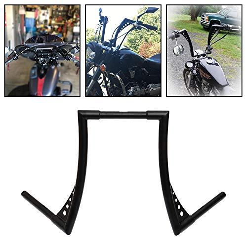 Motorcycle Rise Batwing Ape Handlebar Hanger Bar for Harley Softail FLST FXST Sportster XL (16'', Black)