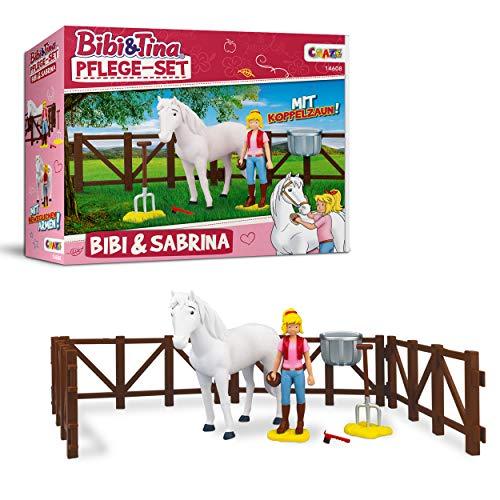 Craze Set Tina BIBI & Tina Pflege Pferdeset Pferdefiguren Spielfiguren Bibi und Pferd Sabrina inkl. Zubehör, Bibi & Sabrina 14608