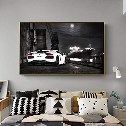 Canvas art print poster wall decoration painting famous car living room home decoration frameless painting 40X60cm