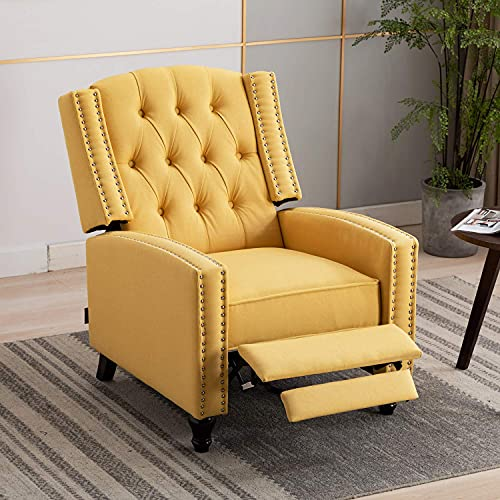 Artechworks Tufted Fabric Pushback Manual Recliner...
