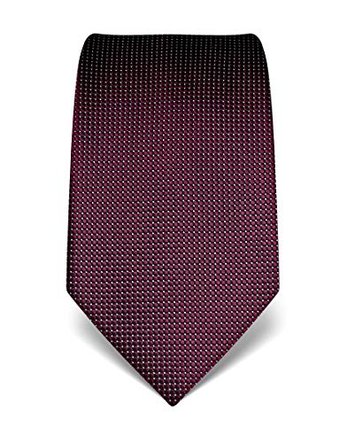 Vincenzo Boretti Herren Krawatte reine Seide gepunktet edel Männer-Design zum Hemd mit Anzug für Business Hochzeit 8 cm schmal/breit aubergine