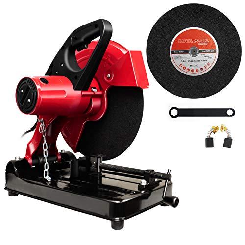 Toolman 14' Chop Saw, 15 Amp, 2 Cutoff Disc for metal, 2 Carbon Brushes,...