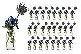 casavetro - 24 Botellas de Cristal en Estilo Mesa de Boda florero pequeño rústico para Decorar mesas, jarrones de Cristal, Vidrio, Blanco, 24 Unidades (