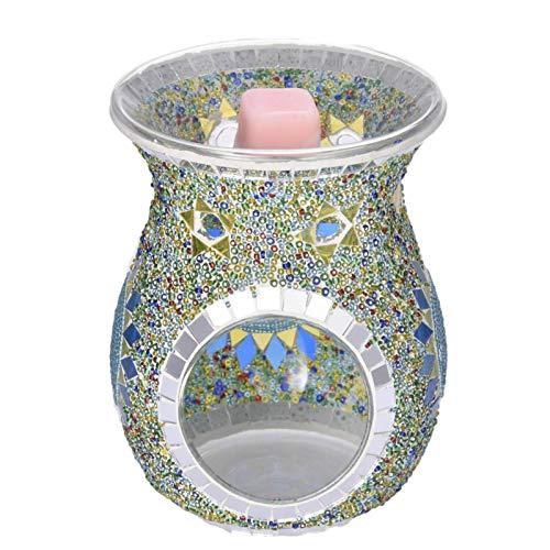 househome - Lámpara de aroma, difusor de aceite de lámpara de aroma, cristal, portavelas de aceite de perfume de lámpara de aroma de cera para el hogar, estudio o café