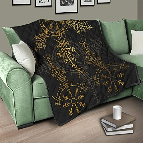 COMBON Shop Upgrade Viking Rune Compass Summer Quilts Breathable Air Conditioner Quilts - for All Season white 173x203cm