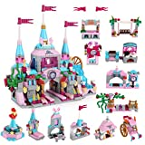 Vanmor 568Pcs Princess Castle Building Blocks Set Toy for Girls Castle Playset with 25 Models Pink Palace Brick Toys STEM Educational Construction Kits for Kids Girls Age 6-12 Gifts
