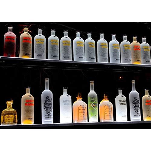 LSGMC 1 Tier Acryl Beleuchtetes Weinregal mit Fernbedienung LED beleuchteter Alkohol-Flasche Display Beleuchtetes Flasche Regal für Brithday, Hochzeit Weihnachtsfeier, Club, Bars,1000 * 110 * 24mm