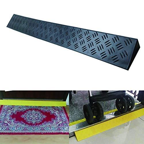 DYB Gummirampen für Rollstuhlschwellen, Schwellenrampe für Bergauf-Assistenten, kein Stanzen und Reparieren erforderlich, für Rollstuhl/Roller/Fahrrad (schwarz, Größe: 100 x 8,5 x 3,5 cm)