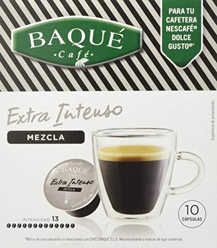 Cafés Baqué Capsulas Compatibles Dolce Gusto Espresso Extra Intenso 40 Unidades 720 g