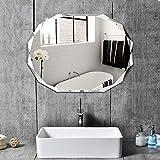 Bidet Einsatz für Toilette Moderne Frameless Badezimmerspiegel Kosmetikspiegel, Rasierspiegel, an der Wand befestigten Mit Kosmetik Regal, Badezimmer Dekorative (Size : 45 * 60CM)