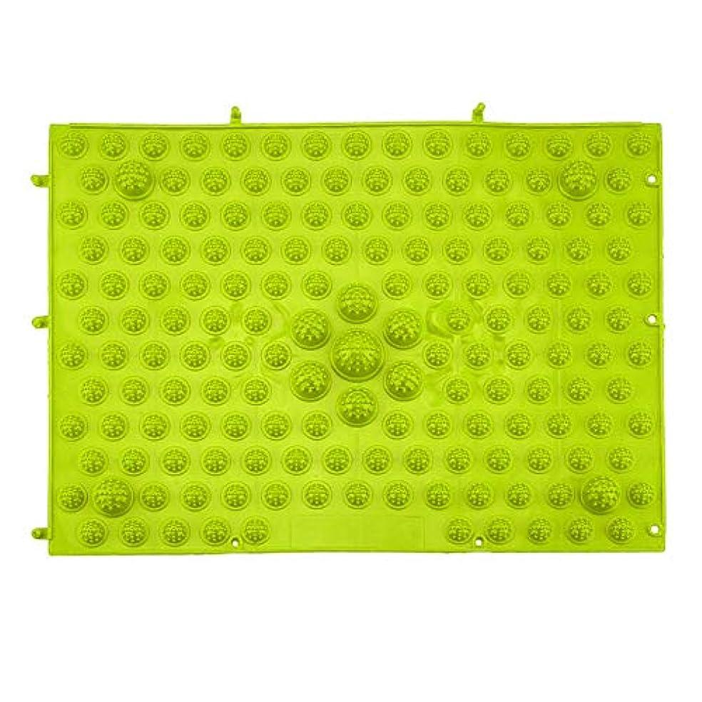 尊敬する信頼性のある予防接種する指圧フットマットランニングマンゲーム同型フットリフレクソロジーウォーキングマッサージマット用痛み緩和ストレス緩和37x27.5cm - グリーン