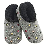 Snoozies Slippers for Women | Lotsa Dots Colorful Cozy Sherpa...