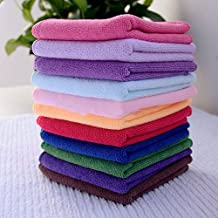 shlutesoy Towel 10Pcs Microfibre Cleaning Cloth Towel Car Valeting Polishing Duster Kitchen Wash
