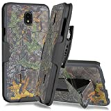 Galaxy J7 2018 Case,Galaxy J7 Refine Case,Galaxy J7 V 2nd Gen Case,Galaxy J7 Star Case,Galaxy J7 Aero Case,J7 Top, Belt Clip Case - Slim Fit Holster Shell Combo w/Rubberized Grip (Smooth Camo)