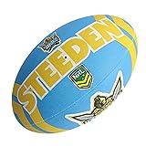 Steeden Ballon de rugby NRL Gold Coast Titans Supporter 2020 Bleu/jaune – 5