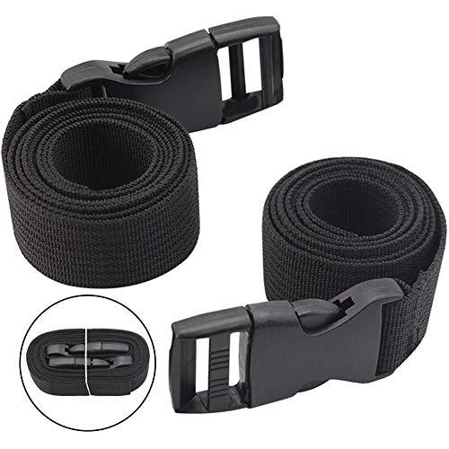 BETOY 2 pcs Brustgurt Chest Belt,Brustgurt für Schulranzen Schulrucksack Rucksack universal (schwarz) Gurtband mit Schnallen Klippverschluss Gurte Tasche-Verstellbarer Brustgurt Heavy