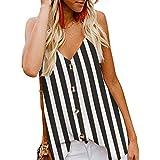 MORCHAN Femmes Fashion rayé à Manches Longues en Vrac Blouse Casual T-Shirt (FR-44/CN-XL, Gris)