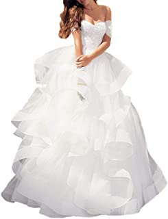 Abito da sposa con volant in tulle, senza maniche, abito da sposa sexy