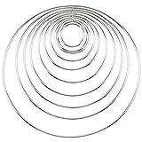 DXLing 10 Pezzi Cerchi per Acchiappasogni Anelli di Metallo Accessori per Acchiappasogni 1...