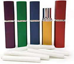 New Square Design! Essential Oil Aromatherapy Inhaler Empty Aluminum and Glass With 10 Wicks - Set of 5 - by Rivertree Life