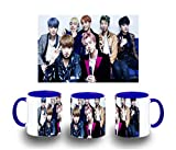 MERCHANDMANIA Taza Azul BTS Boy with Luv Color mug