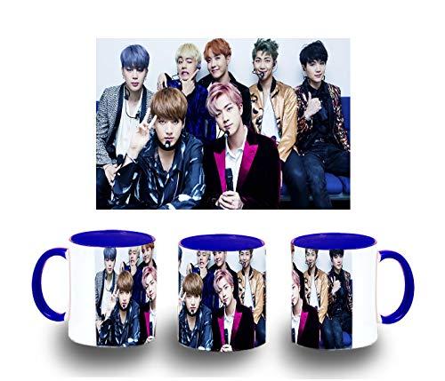MERCHANDMANIA Taza Azul BTS Boy with Luv Color mug