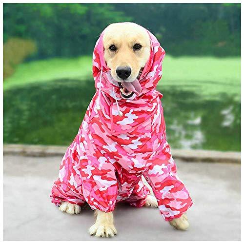 Reeseiy Regenmantel für Hunde, Ultralight, atmungsaktiv, 100 % wasserdicht, Chic-Kragen, Regenjacke, Sicherheit, niedliches Zubehör für Haustiere