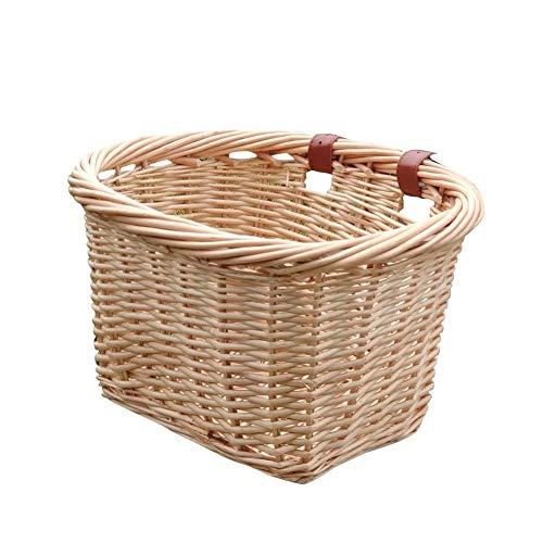 Cesta de bicicleta para niña, manillar delantero para niños, cesta tejida a mano, adecuada para bicicletas infantiles