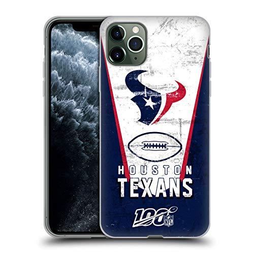 Head Hülle Designs Offiziell Offizielle NFL Banner 100ste Houston Texans Logo Art Soft Gel Handyhülle Hülle kompatibel mit Apple iPhone 11 Pro Max